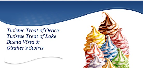 Ginthers Twistee Treat Ocoee Lake Buena Vista Swirls - Ice Cream